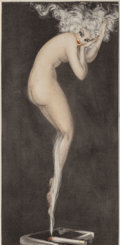 Fine Art - Work on Paper:Print, Louis Icart (French, 1888-1950). Illusion, 1940. Etching incolors on Rives paper. 18-3/4 x 8-1/2 inches (47.6 x 21.6 cm...