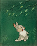 Animation Art:Production Cel, Bambi Thumper Production Cel Courvoisier Setup (Walt Disney,1942)....