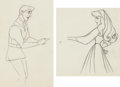 Animation Art:Production Drawing, Sleeping Beauty Briar Rose and Prince Phillip AnimationDrawing Group of 2 (Walt Disney, 1959).... (Total: 2 Original Art)