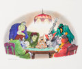 Animation Art:Production Drawing, Scooby-Doo Where Are You? Scooby and Six Monsters Bob SingerIllustration (Hanna-Barbera, 2004)....