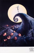 Memorabilia:Poster, The Nightmare Before Christmas Jack Skellington SignedLimited Edition Giclee Print #408/500 (Walt Disney/Touchstone, ...