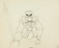 Animation Art:Production Drawing, Peter Pan Captain Hook Animation Drawing (Walt Disney,1953)....