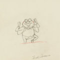 Animation Art:Production Drawing, The Adventures of Icabod and Mr. Toad J. Thaddeus ToadAnimation Drawing (Walt Disney, 1949)....