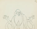 "Animation Art:Production Drawing, Fantasia ""The Sorcerer's Apprentice"" Yen Sid Animation Drawing (Walt Disney, 1940)...."