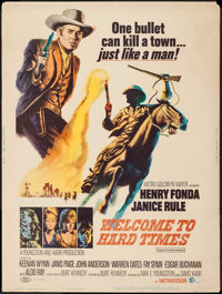 "Welcome to Hard Times (MGM, 1967). Poster (30"" X 40""). Western"