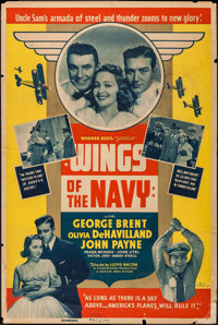 """Wings of the Navy (Warner Brothers, 1939). Poster (40"""" X 60""""). Drama"""