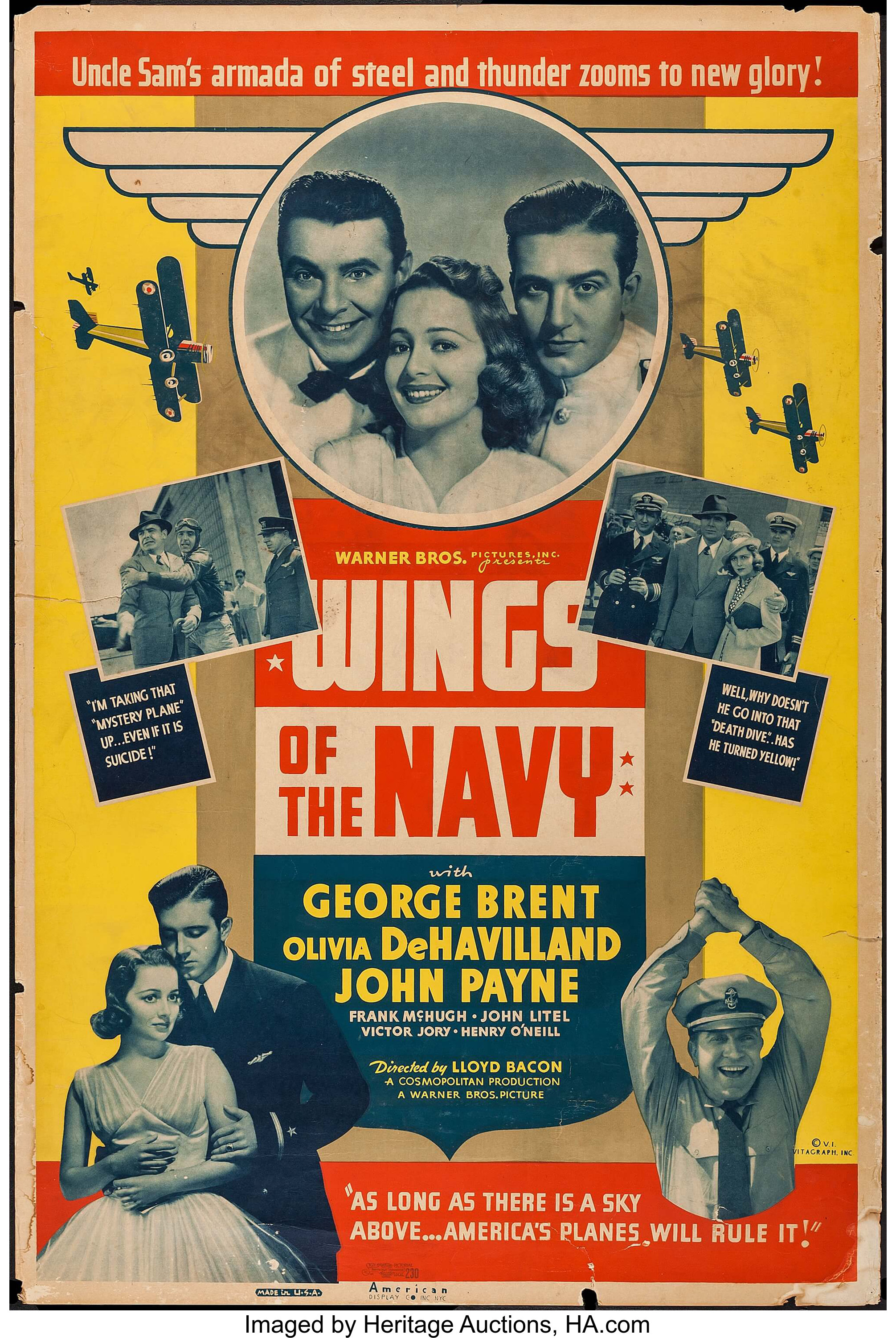 """Wings of the Navy (Warner Brothers, 1939). Poster (40"""" X 60""""). 