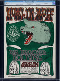 Music Memorabilia:Posters, Howlin' Wolf Avalon Concert Poster Signed by Stanley Mouse FD-27(Family Dog, 1966)....