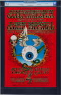 "Music Memorabilia:Posters, Jimi Hendrix ""Flying Eyeball"" Fillmore/Winterland Concert Poster#BG-105 (Bill Graham, 1968). ..."