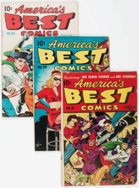 America's Best Comics Group of 4 (Nedor Publications, 1946-48) Condition: Average GD/VG.... (Total: 4 Items)
