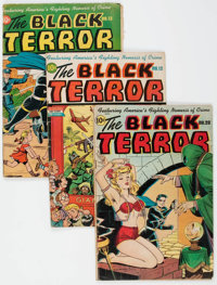 Black Terror Group of 6 (Nedor Publications, 1946-48) Condition: Average GD.... (Total: 6 Items)