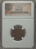 Civil War Merchants, 1863 E. Townley, Cincinnati, OH, Fuld 165GB-3a, R.8, MS62 BrownNGC. ...