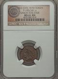 Civil War Patriotics, 1863 Union For Ever, Fuld 100/341a, R.7, MS61 Brown NGC. ...