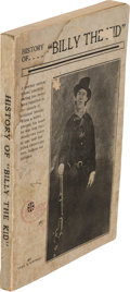 "Books:Biography & Memoir, Cha[rle]s A. Siringo. History of ""Billy the Kid."" [Santa Fe:N.p., 1920]. ..."
