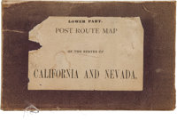 [Maps]. D.M. Key, U.S. Postmaster and W.L. Nicholson, Topographer. Post Route Map of the States of California a