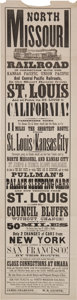 Advertising:Paper Items, Fine, Large Circa Early 1870s Railroad Broadside....