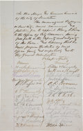 Miscellaneous:Ephemera, Tombstone, Arizona: Important 1881 Petition for Appointment of H.F. Price as City Assessor....