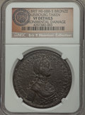 Betts Medals, 1758 Boscawen at Louisbourg Medal, Betts-403 - Environmental Damage- NGC Details. VF. ...