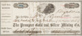 Miscellaneous:Ephemera, Prompter Mine: A Rare Stock Transfer Document Signed by Alpheus andSon Robert Lewis....
