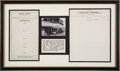 Miscellaneous:Ephemera, Rare Artifacts from Tombstone's Grand Hotel. ...