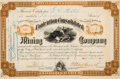 Miscellaneous:Ephemera, Contention Consolidated Mining Company: One of the Rarest TombstoneMining Stock Certificates....
