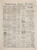 Miscellaneous:Newspaper, Important March 15, 1882, Issue of the Tombstone DailyNugget....