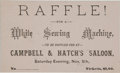 Miscellaneous:Ephemera, Tombstone, Arizona: Rare Raffle Ticket....