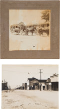 Photography:Cabinet Photos, Tombstone, Arizona: Two Photographs of Tombstone, including anImage of a Stage Coach.... (Total: 2 Items)