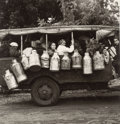 Photographs, Genevieve Naylor (American, 1915-1989). Milk truck, 1942. Gelatin silver. 7-1/2 x 7-1/4 inches (19.1 x 18.4 cm). Signed ...