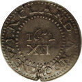 1652 SHILNG Pine Tree Shilling, Large Planchet AU55 PCGS. Noe-8, Crosby 1b-D, R.3. 70.79 grains. An early die state of t...
