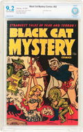 Golden Age (1938-1955):Horror, Black Cat Mystery #32 File Copy (Harvey, 1951) CBCS NM- 9.2 Creamto off-white pages....