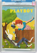 Magazines:Vintage, Playboy #6 (HMH Publishing, 1954) CGC NM- 9.2 Off-white to white pages....