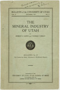 Books:Reference & Bibliography, Robert S. Lewis and Thomas Varley. The Mineral Industry of UtahBulletin No. 12. (Bulletin of the University...