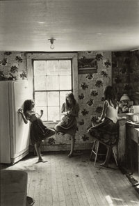 William Gedney (American, 1932-1989) Three Girls in Kitchen, Kentucky, 1964 Gelatin silver 10-3/4