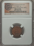 Civil War Merchants, 1863 J. Dolman, Covington, KY, Fuld 150C-1a, R.4, MS64 Red andBrown NGC. ...