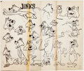 animation art:Model Sheet, Huckleberry Hound Show Mr. Jinks Studio Model Sheet(Hanna-Barbera, 1960). ...