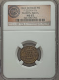 Civil War Merchants, 1863 Martin Brothers, Detroit, MI, Fuld 225AV-1b, R.8, MS62 NGC....