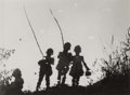 Photographs, Josef Bartuska (Czech, 1898-1963). Untitled (Threechildren), 1930s. Gelatin silver. 5-1/8 x 6-7/8 inches (13.0 x17.5 c...