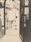 Photographs, Unknown (American, 20th century). Looking through a cafe door, 1920s. Gelatin silver. 11-1/2 x 8-1/2 inches (29.2 x 21.6...