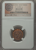 Civil War Patriotics, 1863 Fuld-12/351a, R.9, MS64 Red and Brown NGC. ...