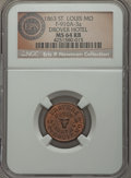 Civil War Merchants, 1863 Drovers Hotel, St. Louis, MO, Fuld 910A-3a, R.6, MS64 Red andBrown NGC. ...