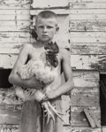 Photographs, Shelby Lee Adams (American, b. 1950). Eric with Spike the rooster, 2001. Gelatin silver. 18-1/2 x 15 inches (47 x 38.1 c...