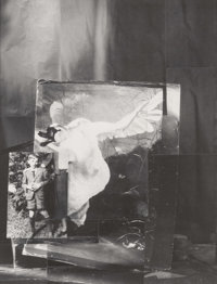 John O'Reilly (American, b. 1930) With a Swan, 1996 Polaroid collage 9-3/8 x 7 inches (23.8 x 17