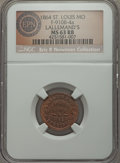 Civil War Merchants, 1864 Lallemand's, St. Louis, MO, Fuld 910B-4a, R.8, MS63 Red andBrown NGC. ...