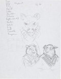 Original Comic Art:Miscellaneous, James Jean Fables: Animal Farm Cover Preliminary SketchOriginal Art (c. 2003)....