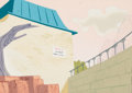 Animation Art:Painted cel background, Tweet Zoo Painted Background Group of 2 (Warner Brothers,1957).... (Total: 2 )