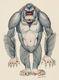Animation Art:Production Drawing, Wes Cook - Gorilla Costume Illustration (Walt Disney,1960s-70s)....