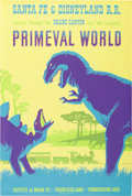 "Animation Art:Poster, Disneyland Park Entrance Poster ""Primeval World"" (Walt Disney,1966)...."