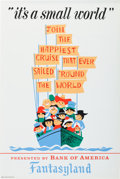 "Animation Art:Poster, Disneyland Park Entrance Poster ""Small World"" Fantasyland (WaltDisney, 1966)...."