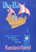 "Animation Art:Poster, Disneyland Park Entrance Poster ""Peter Pan"" Fantasyland (WaltDisney, 1955)...."